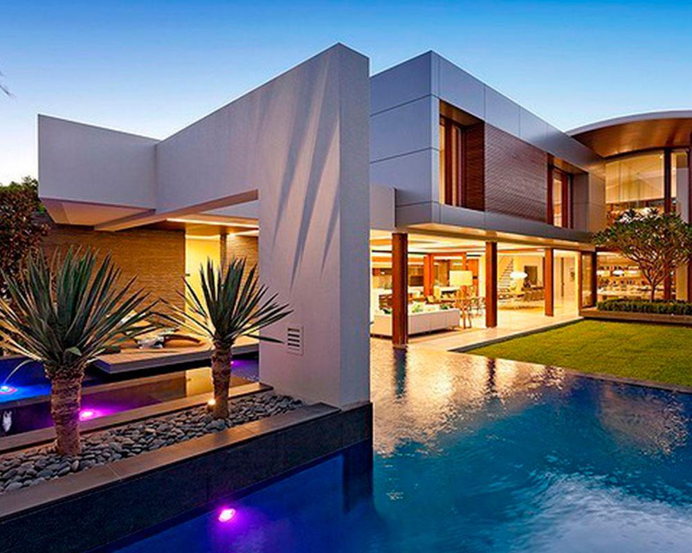 casa lujosa con containers