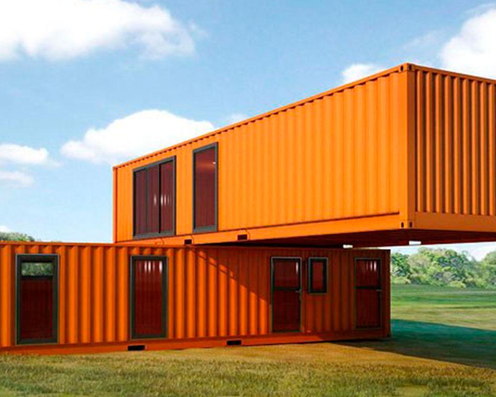 containers apilados cruzados