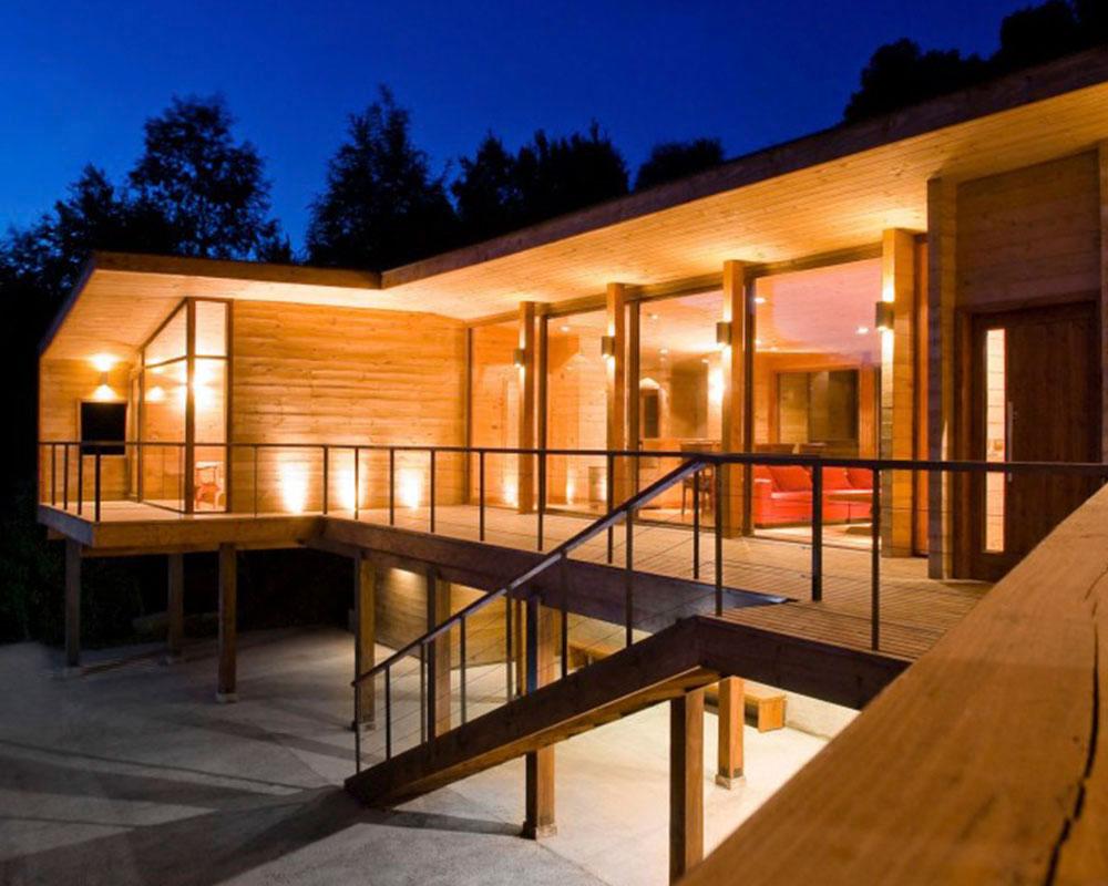 casa moderna con containers