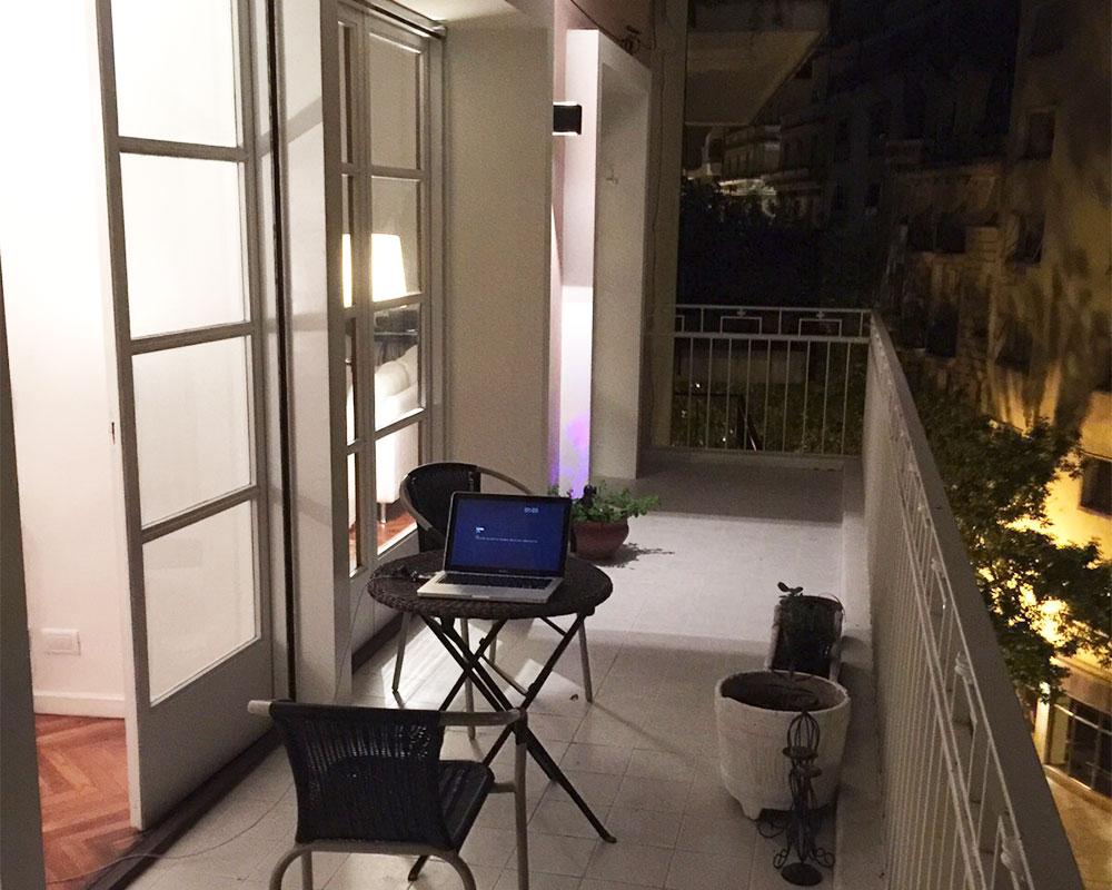 balcon de noche
