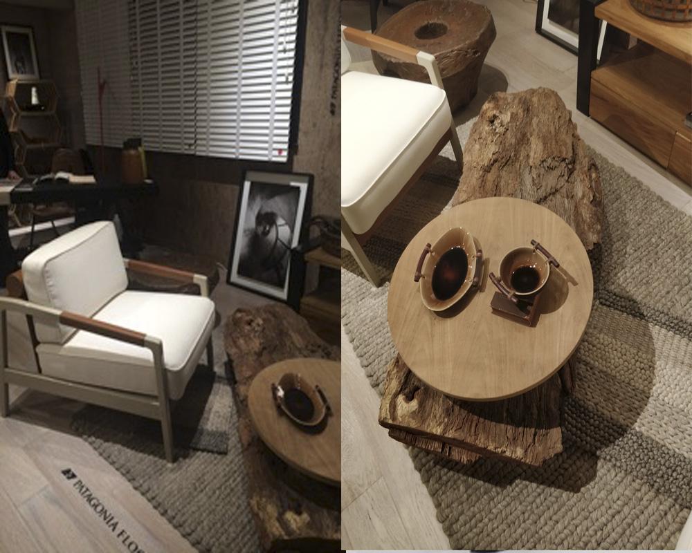 sillón armani y mesita de diseño FOA
