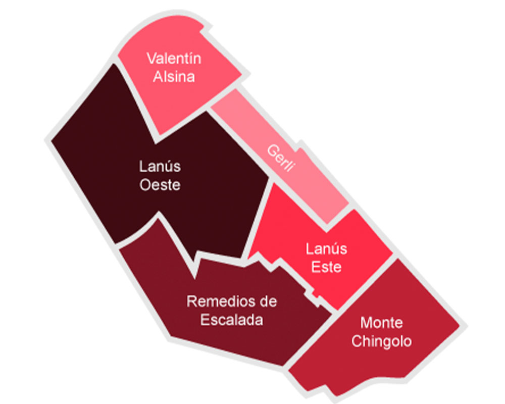 Lanus-mapa