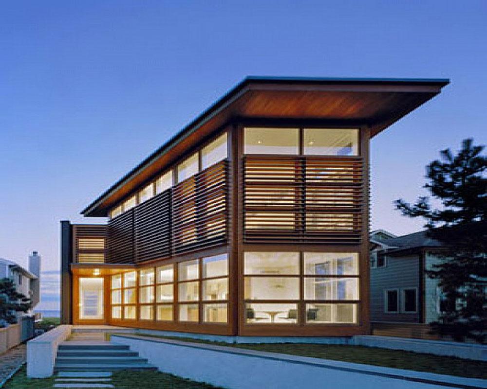 casa-1con piel de vidrio y madera