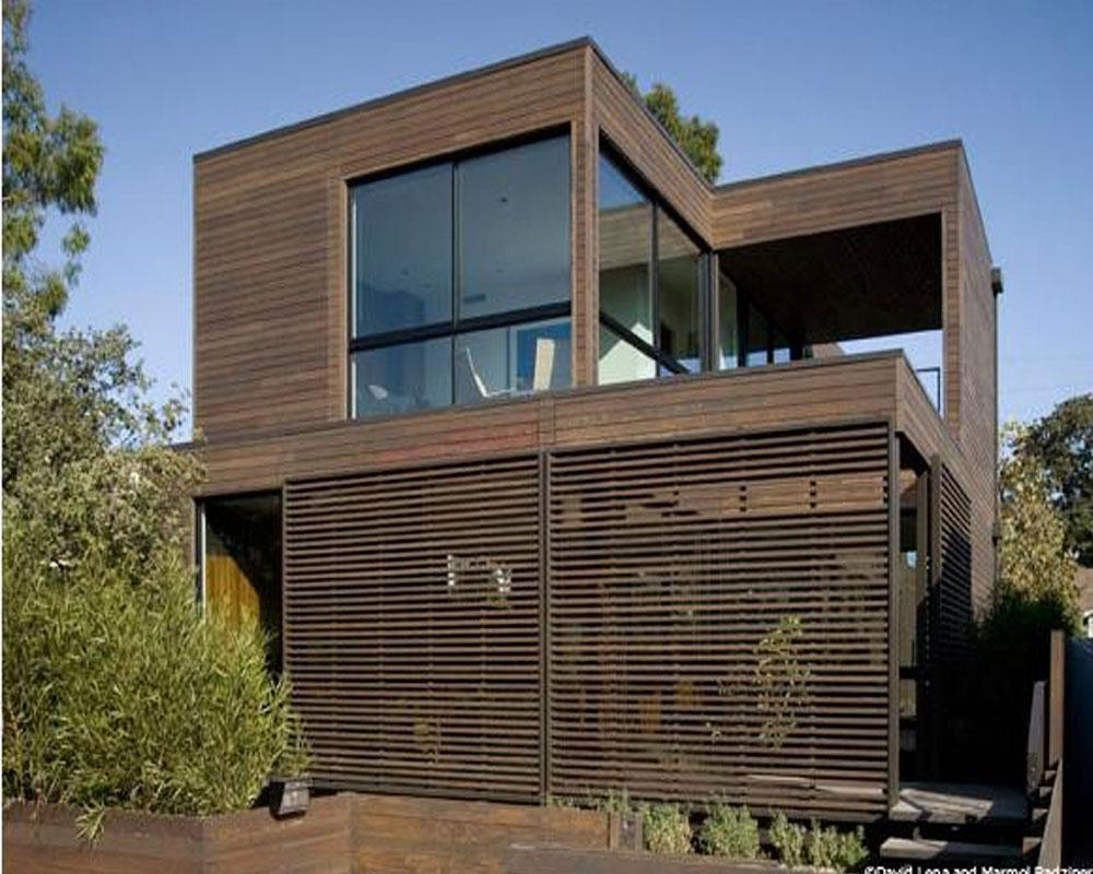 casa-con piel de madera
