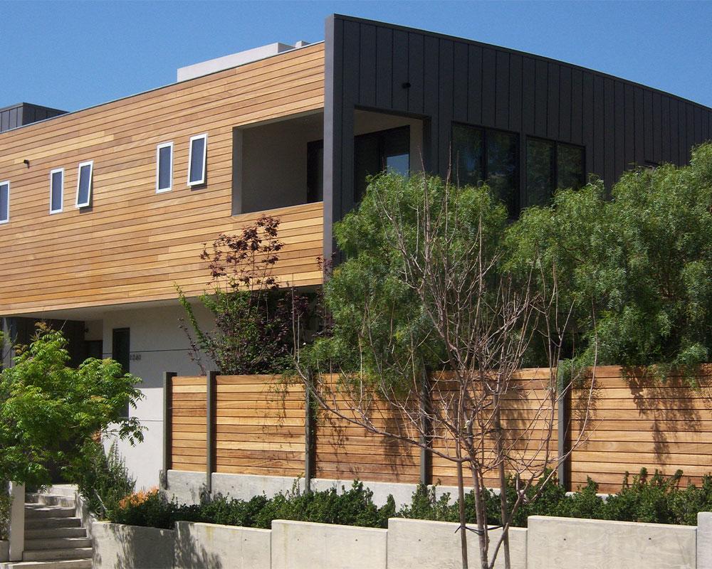 casa con piel de madera
